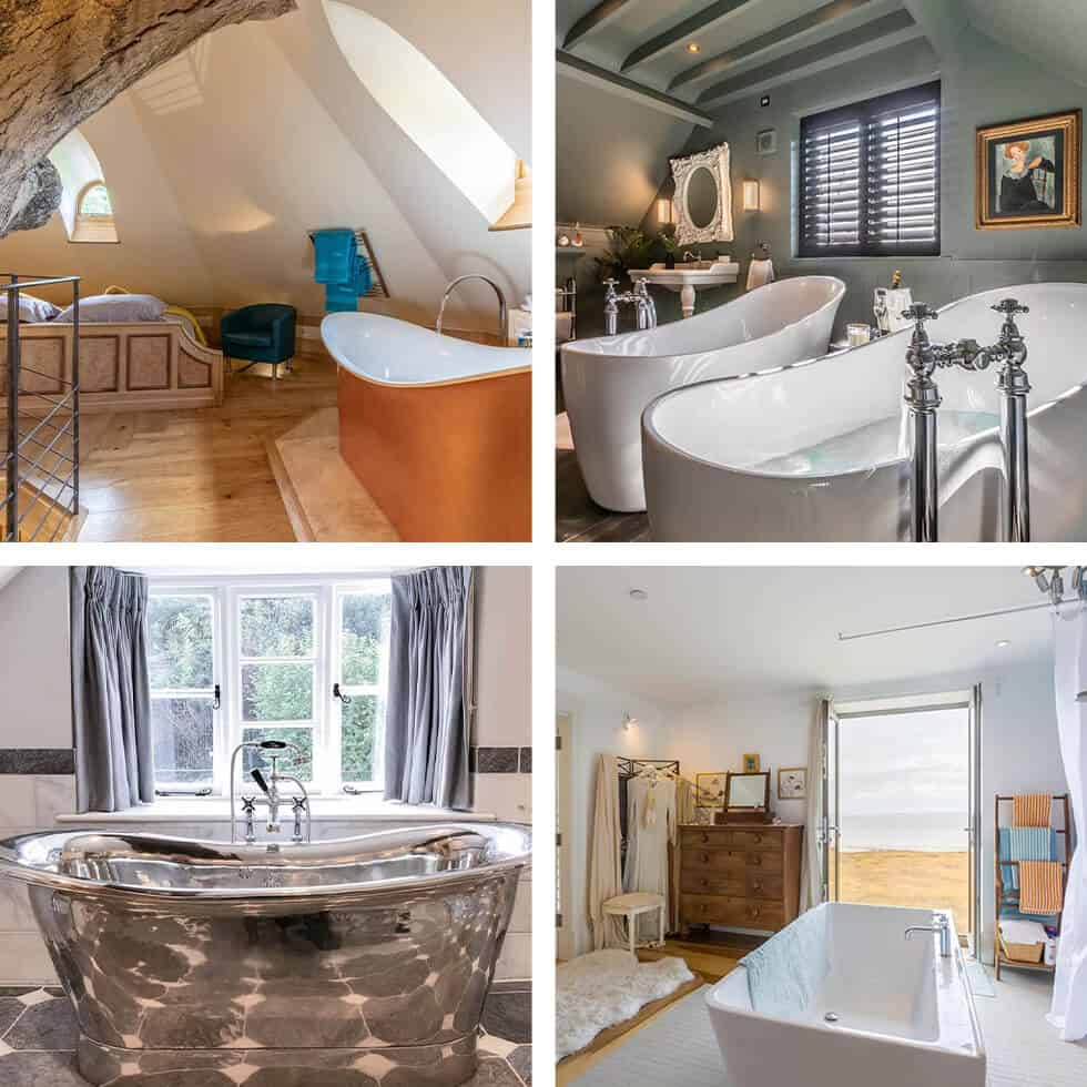 Unique holiday cottages with the best bath tubs to soak in